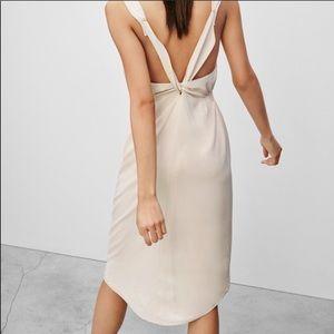 Babaton Aritzia Cream Silk across Back Dress